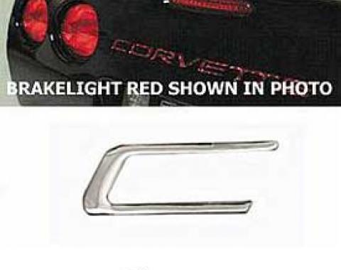 Corvette Rear Bumper Lettering Kit, Chrome, 1997-2004