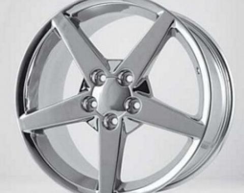 "Corvette Chrome C6 Reproduction Wheel, 17"" x 9.5"", 1988-2004"