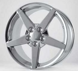 "Corvette Chrome C6 Reproduction Wheel, 18"" x 9.5"", 1988-2004"