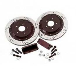 Corvette Rear Brake Rotors, Baer EradiSpeed Plus II, 2-Piece, 1997-2013