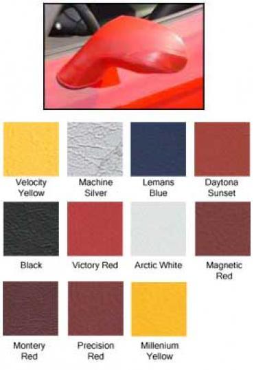 Corvette Mirror Covers, Speed Lingerie, Arctic White, 2005-2013