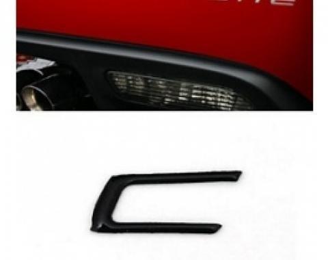 Corvette Rear Bumper Lettering Kit, Domed, 2005-2013 | Black