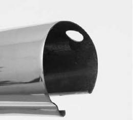 Corvette Upper Inner Windshield Molding, With Visor Holes, Stainless Steel, 1956-1962