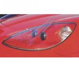 Corvette Headlight Cover Protectors, Clear, 2005-2013