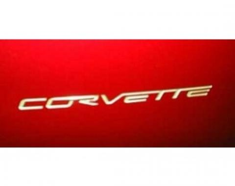 Corvette Rear Bumper Lettering Kit, Silver Metallic, 2005-2013