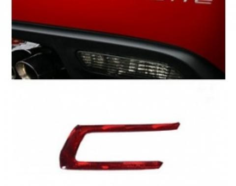 Corvette Rear Bumper Lettering Kit, Domed, 2005-2013 | Brake Light Red