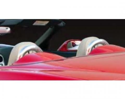 Corvette Convertible Seat Back Hoops, Chrome Coated, 2005-2013