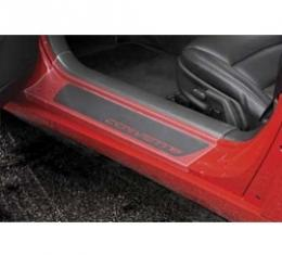 Corvette Sill Ease Protectors, Clear, Without Letters, 2005-2013
