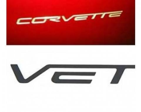 Corvette Rear Bumper Lettering Kit, Black, 2005-2013