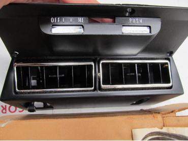 Corvette AC Dash Outlet Bezel, NOS, 1973-1976