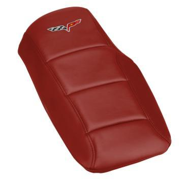 Corvette Console Cushion, with Embroidered C6 Logo, Monterey Red, 2005-2013