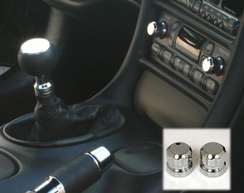 Corvette Polished Billet Climate Control Knobs, 1997-2004
