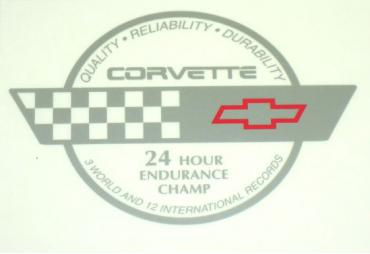 Corvette Endurance Decal, Rear Hatch, 1991