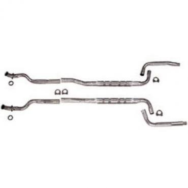 """Corvette Chambered Exhaust System, High Performance, 2.5"""", 4-Speed, 1974-1979"""
