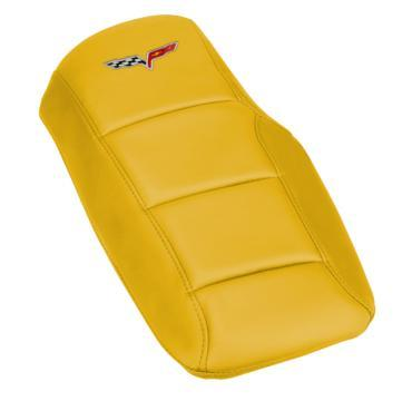 Corvette Console Cushion, with Embroidered C6 Logo, Millenium Yellow, 2005-2013