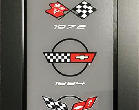 Corvette Generations Framed Panel