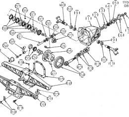 Corvette Differential Bearing, AC Delco, 1984-1996