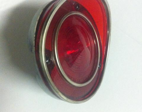Corvette Taillight Lens, Housing and Gasket, NOS, 1970-1971