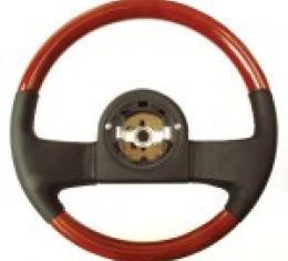 Corvette Mahogany/Wood and Leather Steering Wheel, 1984-1989