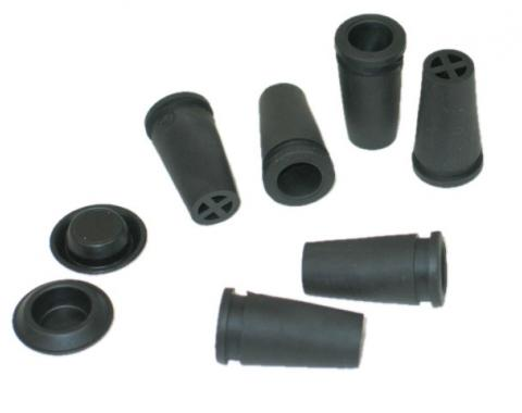 Corvette Floor Pan Drain Plugs, 8 Piece Set, 1977-1982