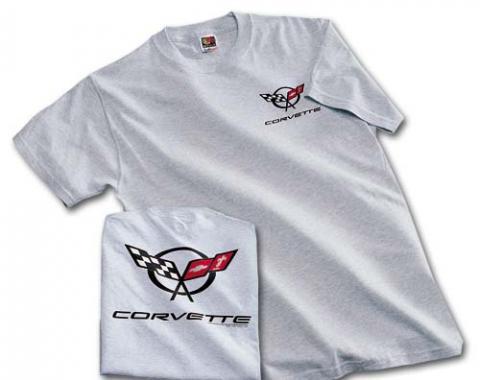 Corvette C5 Logo T-Shirt, Ash