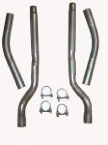 Corvette Aluminized Tail Pipes, Set of 2, 1956-1958