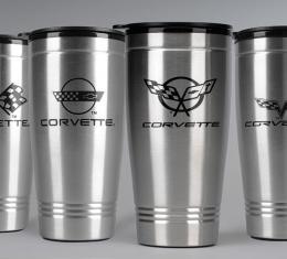 Corvette Stainless Travel Mug, C3 Logo