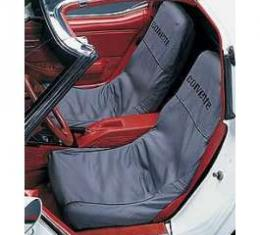 "Corvette Slipcovers, Black, ""Seat Saver"", Covercraft, 1979-1982"