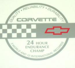 Corvette Endurance Decal, Rear Hatch, 1991