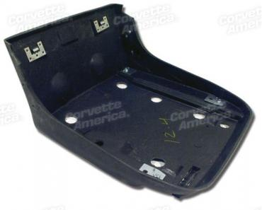 Corvette Seat Bucket, Black, Bottom, 1979-1982