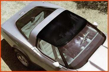 Corvette Roof Panel, Smoke Blue Acrylic, 1-Piece, 1968-1982