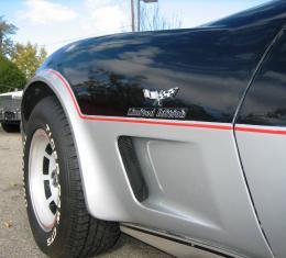 Corvette Side Louver Vent Grille Insert Matt Black Finish, Pair, 1973-1979