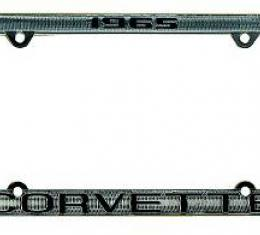 Corvette License Plate Frame, Corvette Chrome, 1963