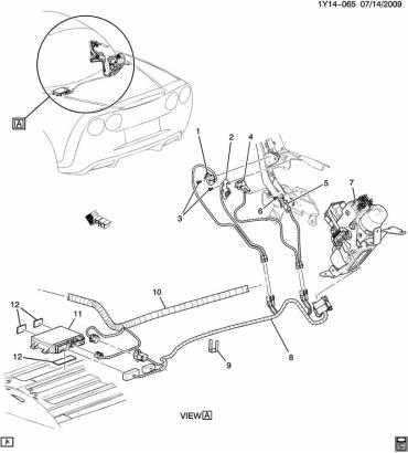 Corvette Folding Top Switch Kit, 2005