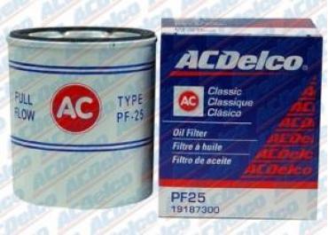 Corvette Oil Filter, PF25, AC Delco, 1968-1977