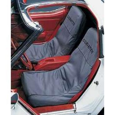 "Corvette Slipcovers, Black, ""Seat Saver"", Covercraft, 1979-1982"