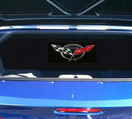 "Corvette Compartment Divider, With Carpet & Commemorative Logo, ""Quiet Ride"", 1999-2004"
