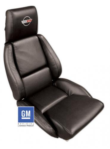 Corvette America 1989-1992 Chevrolet Corvette Embroidered Leather Seat Covers Standard 420420E | 59-96 Black