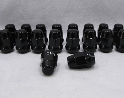 Corvette Black Chrome Lug Nut Set, 1984-2019