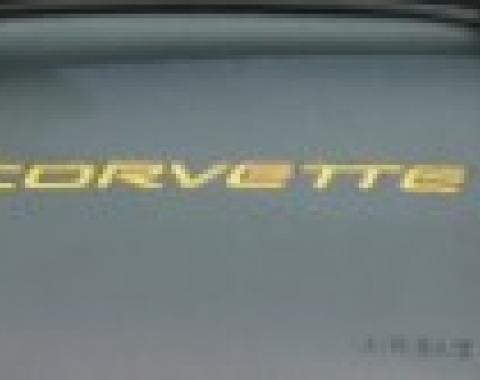 Corvette Dash Air Bag 3D Domed Letters, Yellow, 1997-2004