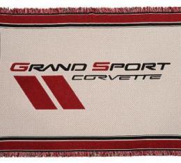 Corvette Woven Throw Blanket, with C1-C6 Logos