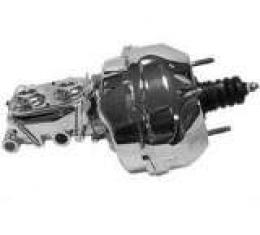 Corvette Brake Master Cylinder & Booster Combo, Chrome, 1968-1982