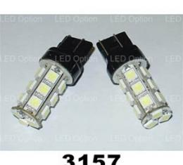 Corvette Red SMD LED Light Bulb, #3157, Pair, 1997-2013