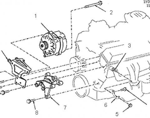 Corvette Alternator Mounting Bracket, NOS, 1984