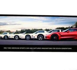 "Corvette Metal Sign, C7 ""Generations Poster"" 35"" X 12"""
