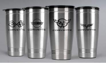 Corvette Stainless Travel Mug, C4 Logo