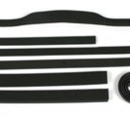 Corvette Radiator/Fan Shroud Seal Kit, 4 Speed, No Air Conditioning, Metal Shroud, 1972