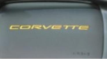 Corvette Dash Air Bag 3D Domed Letters, Yellow, 1997-2004