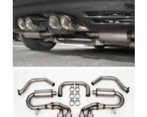 Corvette Exhaust System, Performance, Stainless Steel With Quad Oval Tips, 1997-2004