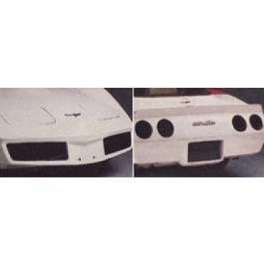 Corvette Black-Out Light Kit, Front & Rear, Smoke Gray, 1980-1982